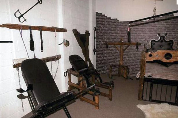 Pics of sex dungeon in Cornwall where British man tortured