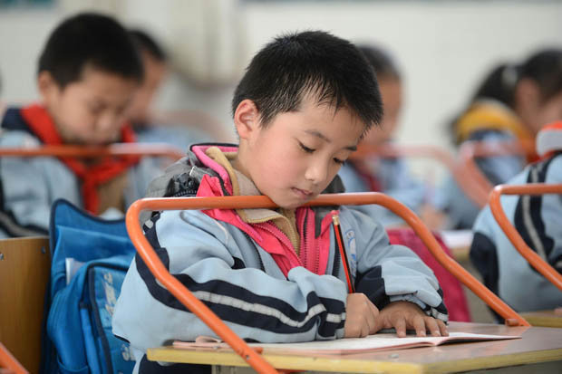 Chinese classroom desk bars to cure shortsight  Daily Star