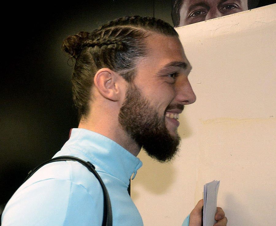 West Ham star Andy Carroll shows off dodgy new haircut during Bournemouth game