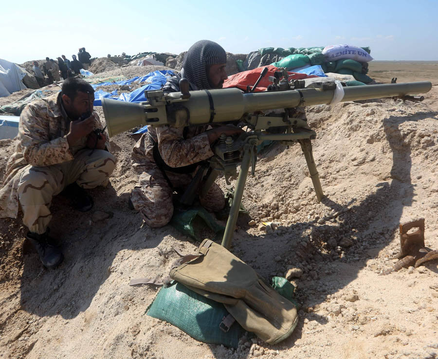Iraqi Shiite fighters from the Popular M
