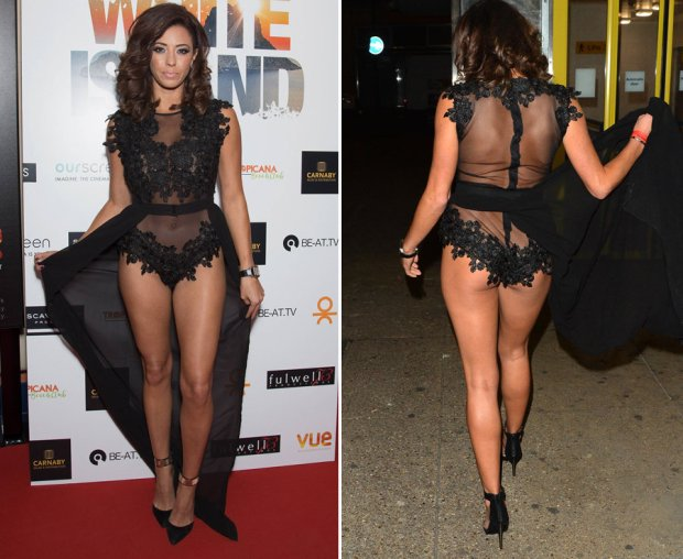 Pascal Craymer shows off her body in a see through dress
