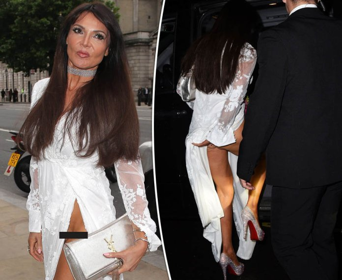Lizzie Cundy flashes vajay in jaw-dropping knickerless fail