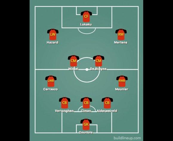 Dries Mertens and Eden Hazard are expected to flank Romelu Lukaku for Belgium against Panama
