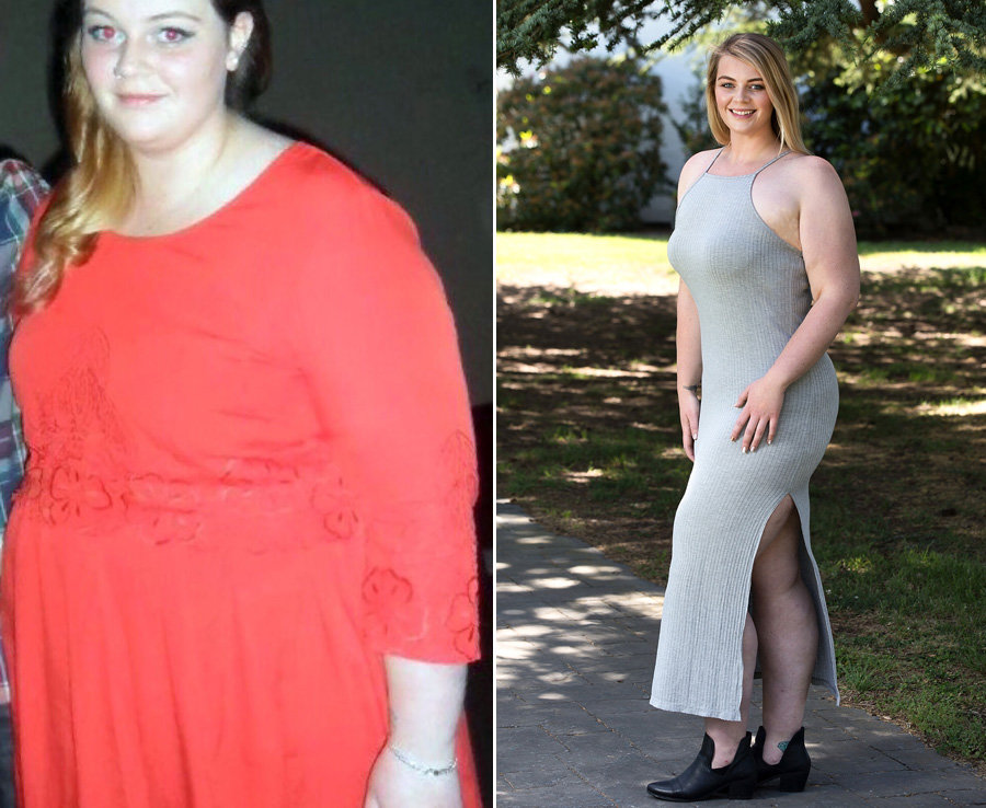 Elora Harre, 23 has lost eight stone