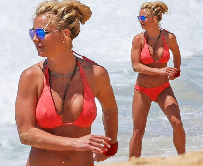 Britney Spears stuns with a boobtastic beach reveal, crowning her Queen of nipples