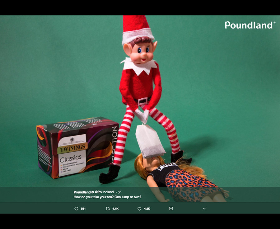 Poundland Sparks Outrage With VERY Naughty Elf Pictures