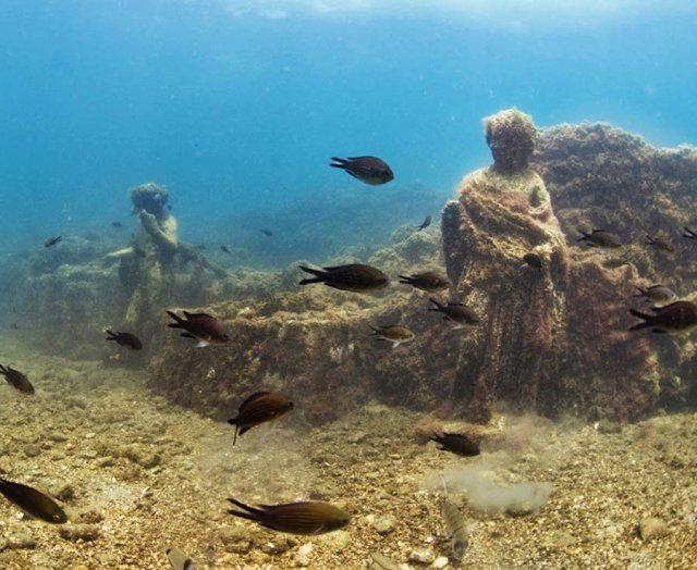 Baiae was an ancient resort on the west coast of Italy that largely disappeared beneath the waves 1,700 years ago