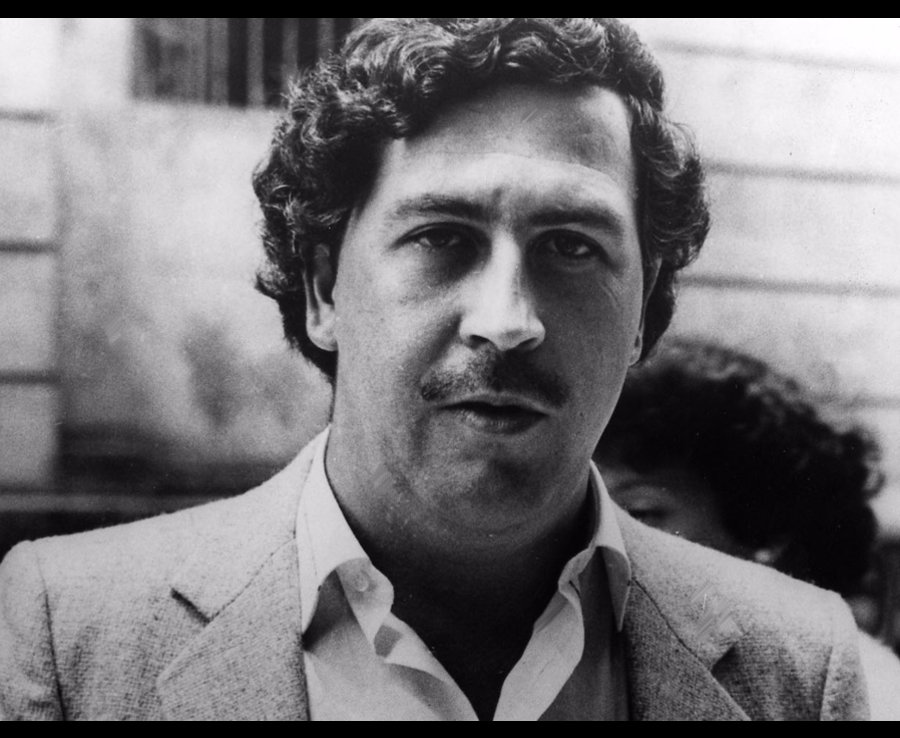 Pablo Emilio Escobar Gaviria was a Colombian drug lord and trafficker. His cartel, at the height of his career, supplied an estimated 80% of the cocaine smuggled into the United States