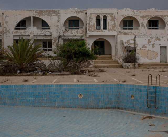 A deserted hotel in Djerba