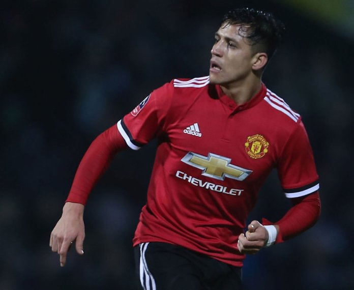 10. Alexis Sanchez (Manchester United - previously Arsenal) - 9 goals in 35 games