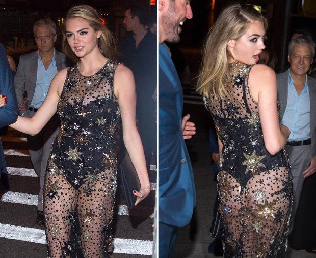 Kate Upton wears stunning see through dress to her birthday bash