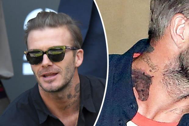 David Beckham Head Tattoo