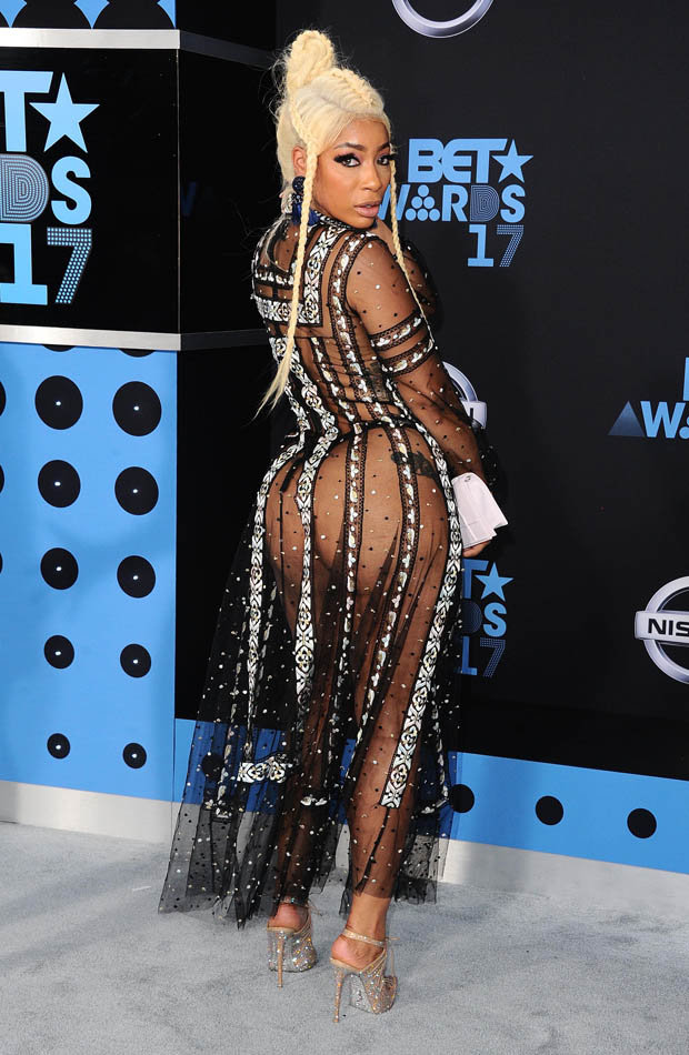 BET Awards 2017 Tommie Lee Wardrobe Malfunction In See