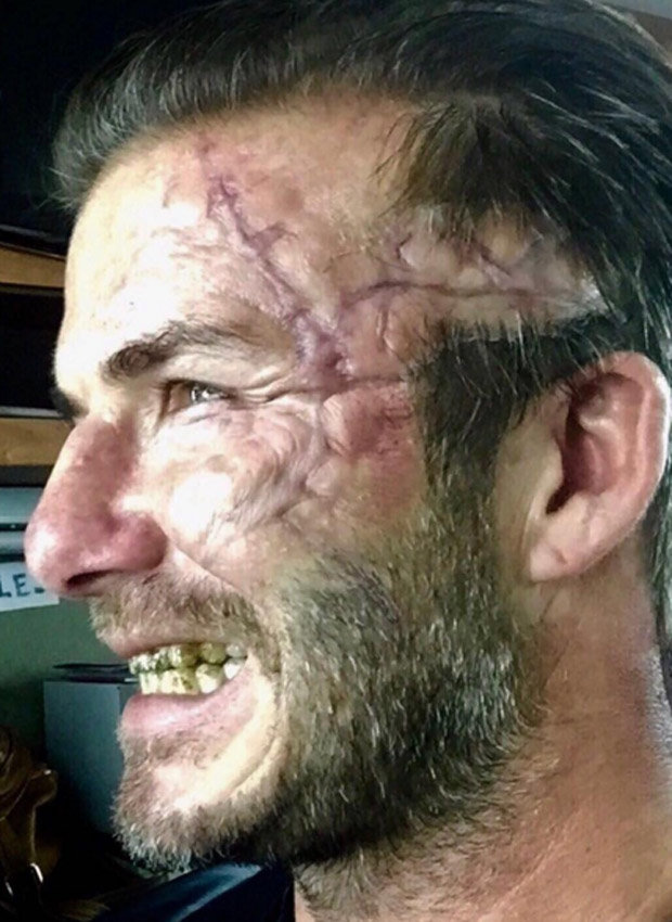 David Beckham new look explained King Arthur role secret to epic scar  Daily Star
