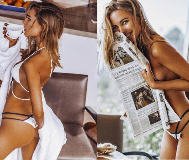 Kimberley Garner Models Latest Swimwear Collection In La