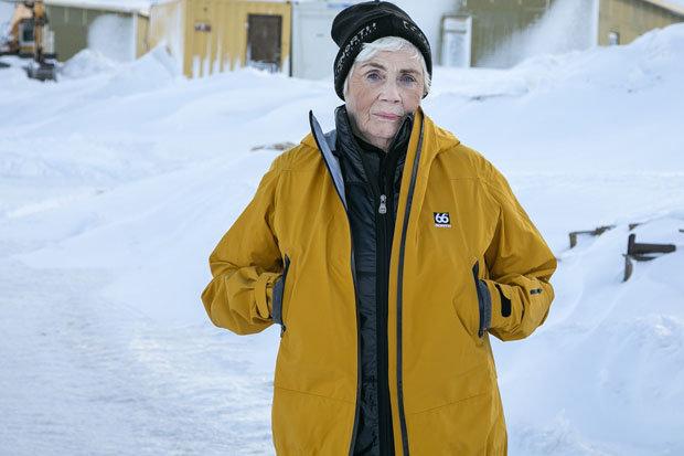 Asdis Karlsdottir modelling clothes