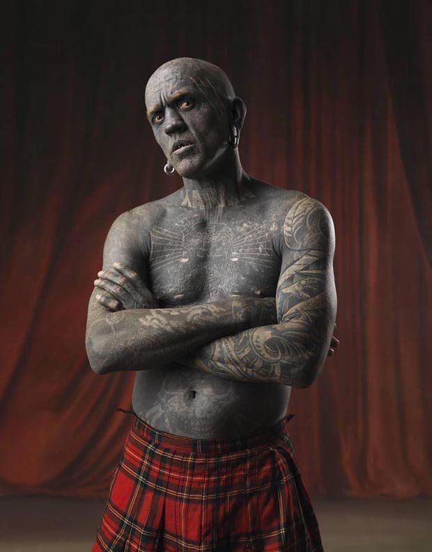 Lucky Diamond Rich is considered the world's most tattooed person