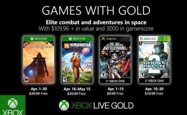 Games With Gold April 2019 Confirmed Major Nelson Reveals