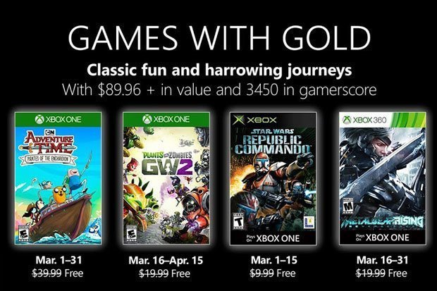 Xbox Games With Gold March 2019 Confirmed Next Free Games