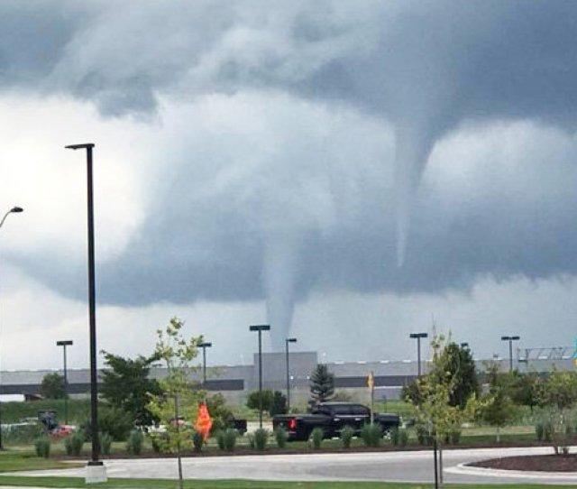 A Double Tornado Hits Marshalltown Iowa