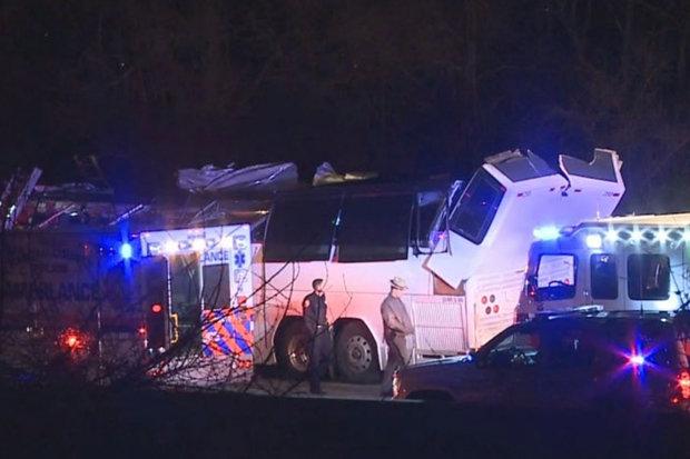 bus crash us new york children injured serious