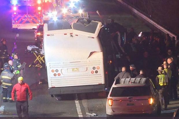 bus crash us new york children injured