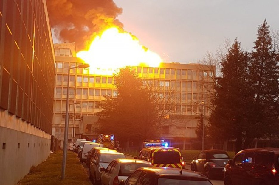 Lyon University Explosion Fire Engulfs Building After
