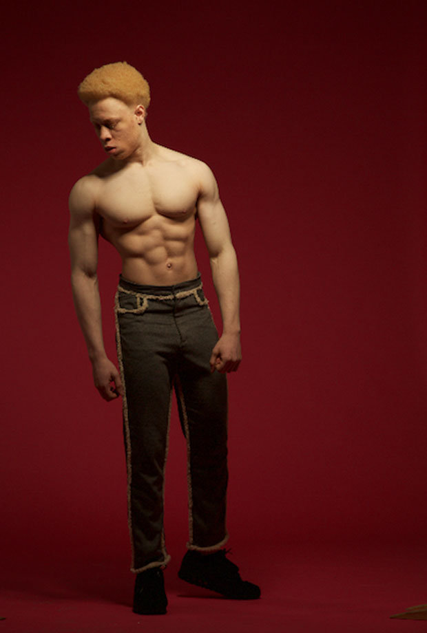 Black albino fitness model reveals diet and exercise plan ...