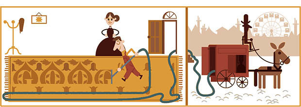 Hubert Cecil Booth Google Doodle