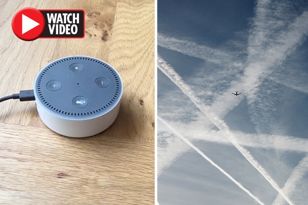 Alexa discusses chemtrail conspiracy theory