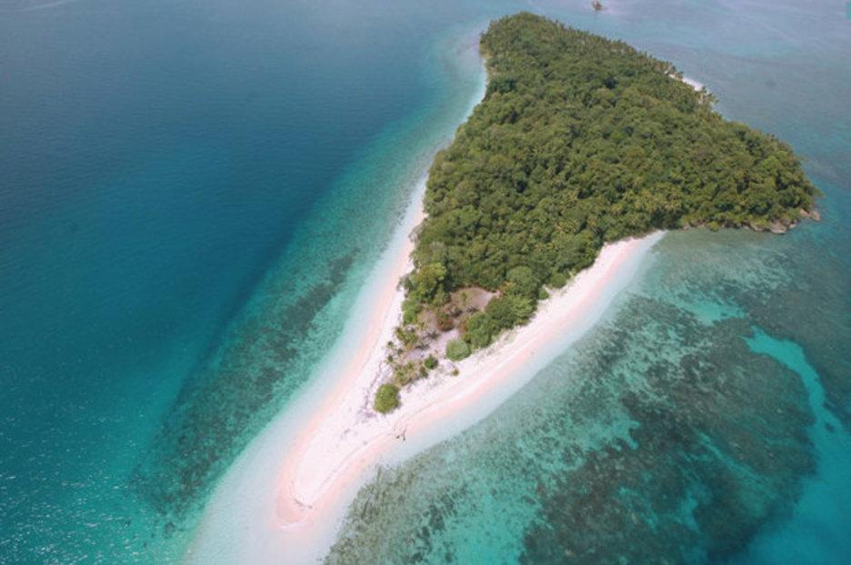 Luxury beachfront house on private Malaysian island on