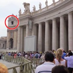 Ghost Chairs Toddler Table And With Storage Viral Video Of Ghostly Figure At Vatican Church | Daily Star