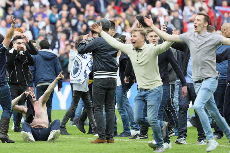 Millwall pitch invasion Steve Morison slams fans who taunted Bradford at Wembley  Daily Star