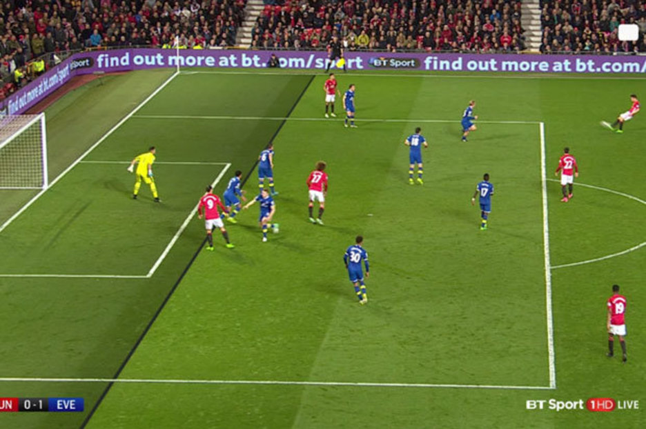 Zlatan Ibrahimovic goal Was Manchester United star offside against Everton  Daily Star