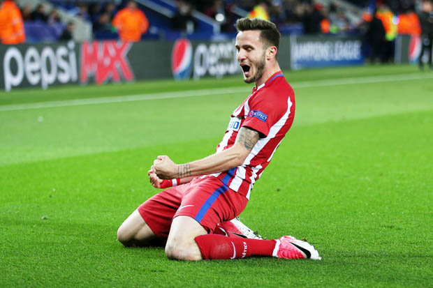 Image result for Saul Niguez 1-1 leicester city