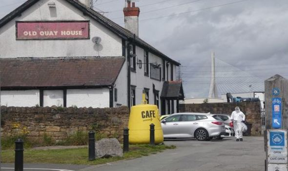 A man was stabbed to death outside Wales pub