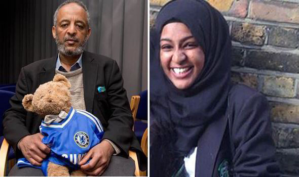 Abase Hussen and his daughter