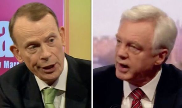 Brexit News:Andrew Marr and David Davis