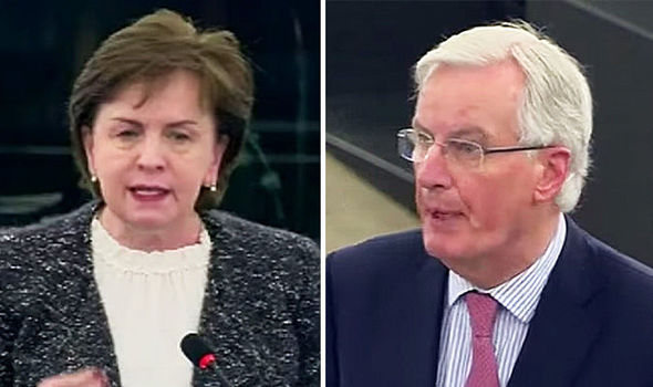Brexit news - Diane Dodds and Michel Barnier
