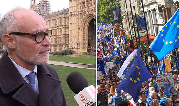 Crispin Blunt and Brexit protesters