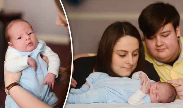 Emily Wackett with her baby