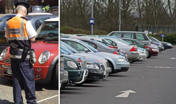 Council parking and car park