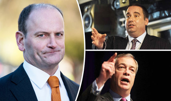 Douglas Carswell, Nigel Farage and Bill Etheridge