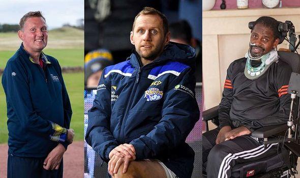 Doddie Weir, Rob Burrow and Len Johnrose