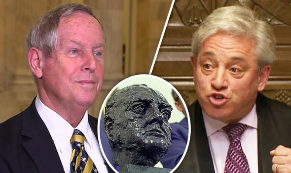 Mr Lewis told Newsnight the Republican party restored the Churchill bust to the Oval Office