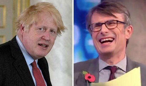 Robert Peston: The veteran journalist burst into laughter on hearing the Brexit jibe