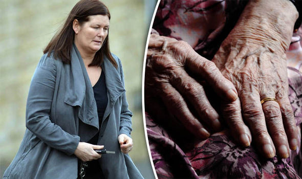 Shelley Taylor and stock image of dementia sufferer