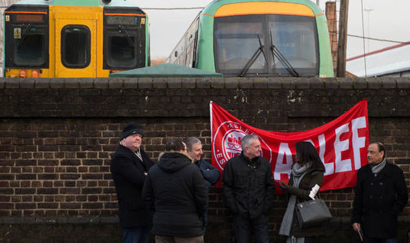 Aslef workers