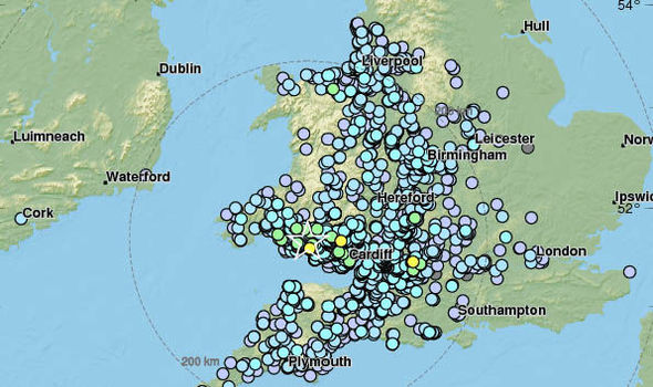 World Earthquake Map News. An earthquake struck the UK MAP shows 4 9M Swansea felt from Bristol