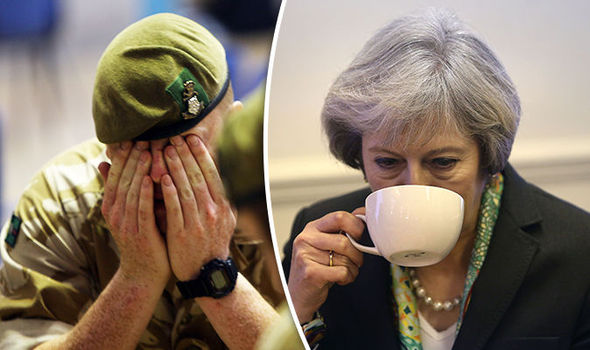 Theresa May accused of neglecting soldiers